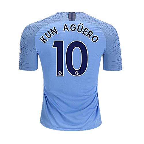(Alpsport #10 KUN Aguero Manchester City Home Soccer Jersey 2018-2019 Season Mens Blue Size S)