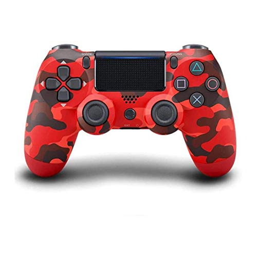L-SLWI Draadloze PS4-controller, Bluetooth gamepad voor Playstation 4 / Pro/Slim / PS4 / PS3 / PC, rood + camouflage