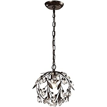 elk lighting circeo collection 1 light mini pendant deep rust