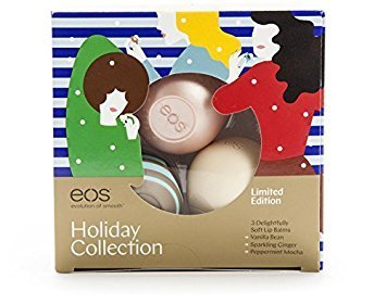 EOS Holiday 2017 3pc Lip Balm Set Peppermint Mocha Sparkling