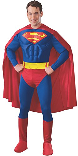 Rubie's Men's DC Comics Deluxe Muscle Chest Superman Costume, as Shown, Extra-Large