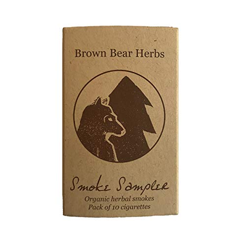 Brown Bear Herbs, Smoke Sampler, Classic Organic Herbal Cigarette Variety Pack, no Nicotine, no Tobacco, Organic, USA