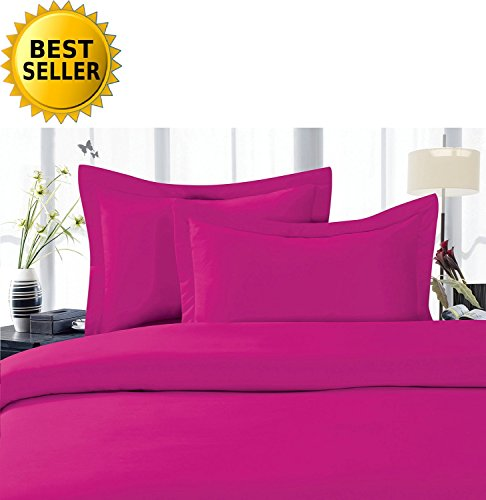 Celine LinenBest, Softest, Coziest Duvet Cover Ever! 1500 Thread Count Egyptian Quality Luxury Super Soft Wrinkle Free 2-Piece Duvet Cover Set, Twin/Twin XL, Hot - Pink Bedding Hot
