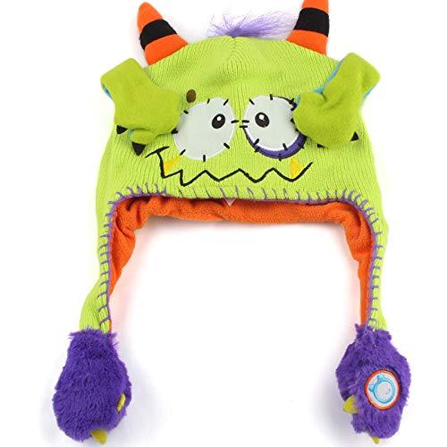 TiTCool Lovely Toddler Baby Girls Boys Winter Warm Flipeez Hat Vivid Animal Pattern Children Knitted Cap Kids Earmuffs Hat (Green)