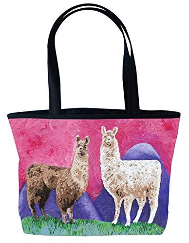- Llama Shoulder Bag, Vegan Tote Bag - Animal Prints - From My Original Painting