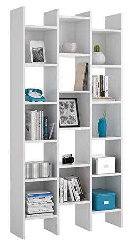 Scaffali E Librerie Design Legno.Brikasa Libreria Moderna Design In Legno Colore Bianco Con Scaffali E Ripiani Italian Da Ufficio Camera Soggiorno