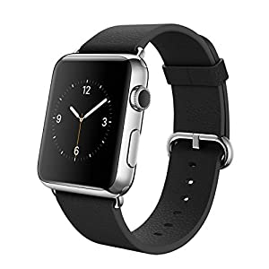 Apple Watch (38MM) Stainless Steel Case with Black Classic Buckle