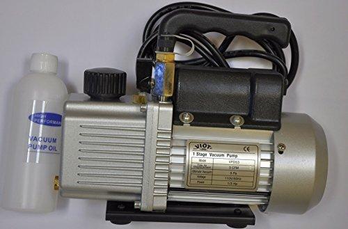 2-Stage Rotary Vane Deep Vacuum Pump High Performance 2CFM:Intake Port:1/4 SAE MFL+Built-in Check Valve Isolation Have Refrigeration HVAC Evacuation