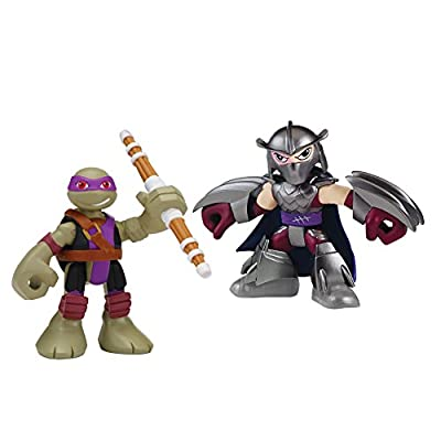 Teenage Mutant Ninja Turtles Pre-Cool Half Shell Heroes Donatello and Shredder Figures 2 Pack