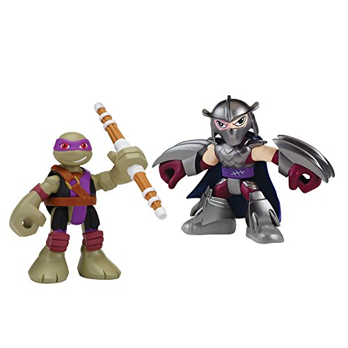 Teenage Mutant Ninja Turtles Pre-Cool Half Shell Heroes Donatello and Shredder Figures 2 Pack (Splinter Teenage Mutant Ninja Turtles)