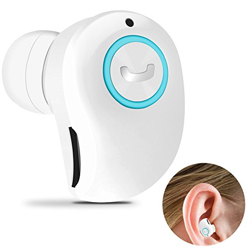 Yelion Bluetooth Headphone Wireless Invisible Bluetooth Earbuds Auto Stereo Headsets Mini Bluetooth Earpiece Bluetooth V4.1 Support Hands-Free Call Compatible with iPhone and Android(White)