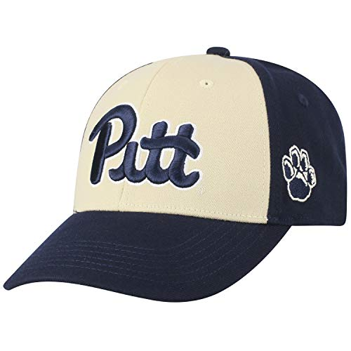 Top of the World NCAA-Premium Two Tone-One-Fit-Memory Fit-Hat Cap-Pittsburgh Panthers