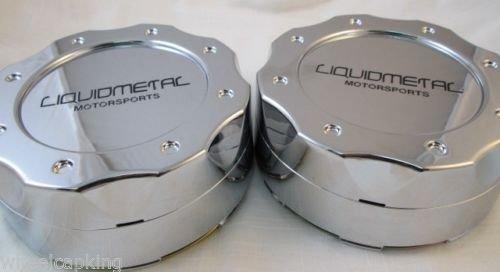 Liquid Metal Chrome Custom Wheel Center Cap Set of 4 Pn: BC-671 Short by Liquid Metal (Image #1)
