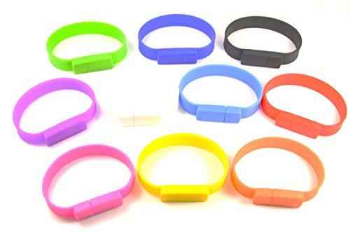FEBNISCTE 10pcs Mix color Bracelet Wristband 1gb USB Flash Drive Memory Stick