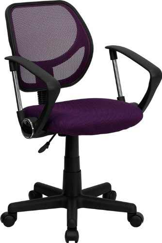 Flash Furniture Mid-Back Purple Mesh Swivel Task Chair with - Chair Purple Computer