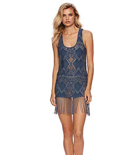 Price comparison product image Beach Bunny Blue Jean Baby Sawyer Mini Dress,  S