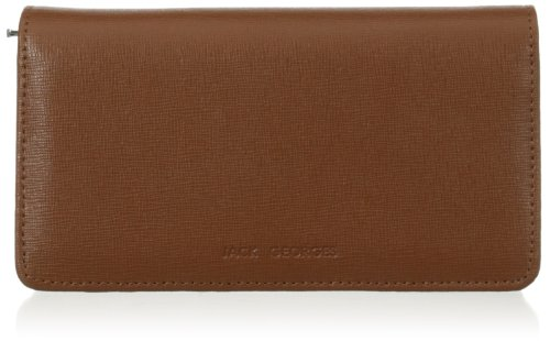 Jack Georges Triple Gusset Continental, Tan, One Size