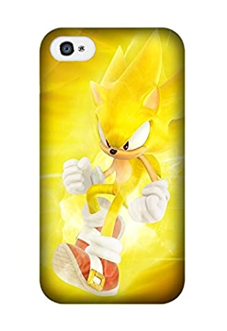 HOT Selling Game Sonic The Hedgehog Phone Case for Iphone 4/4S Best TPU Case Design By Jennifer (Sonic Iphone 4s Case)