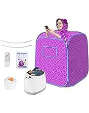 InLoveArts Sauna Steamer Pot, Portable Steam Sauna Spa Set, Gezondheid milieuvriendelijke 2L 1000W Steamer met afstandsbediening, Machine voor Facial Spa, Body Therapy, Family, Indoor Portable Use