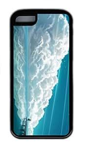 durable case Waiting Pier Art TPU Black Case for iphone 5C