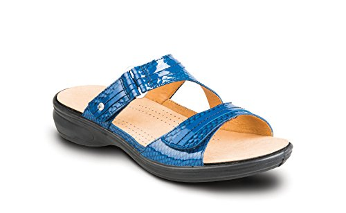 Reviews/Comments Revere Rio Women' Comfort Sandal . Removable Foot Bed & Adjustable Strap: Navy/Snake Wide (