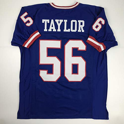 Unsigned Lawrence Taylor New York Blue Custom Stitched Football Jersey Size Men's XL New No Brands/Logos ()