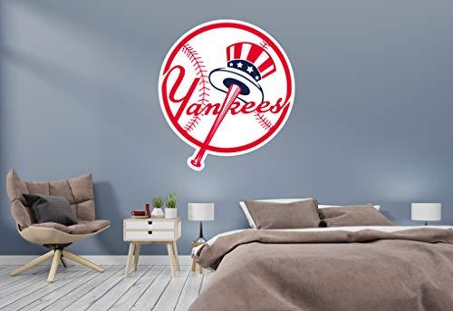Baseball Team Logo - Wall Decal Vinyl Sticker for Home Interior Decoration Bedroom, Window, Mirror, Car (14