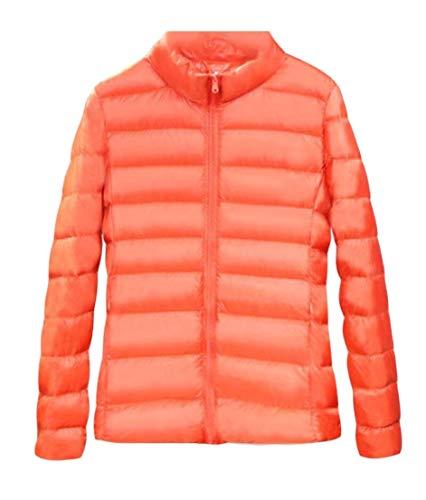 Outwear Invernale Arancione Superiore Piumini Giacca Donne Comprimibile Giù Ttyllmao XtPqUW
