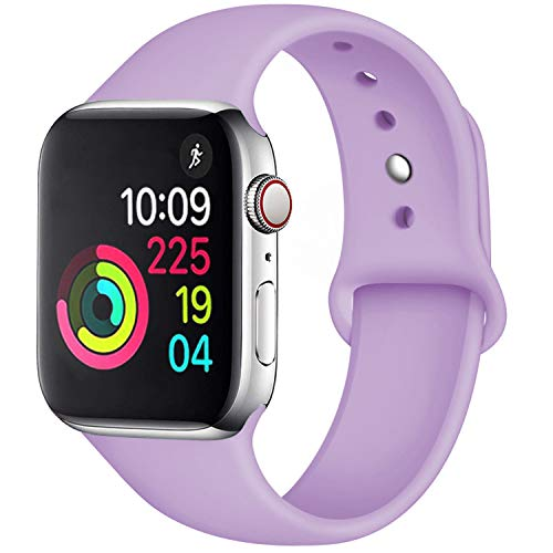 (Fuleda Compatible with Apple Watch Band 40mm 38mm, iWatch Band 40mm 38mm, Lavender, S/M)