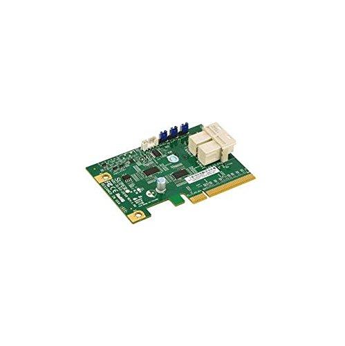 Supermicro AOC-SLG3-2E4R NVMe AOC card, Standard LP, 2 internal NVMe ports, x4 per port, Gen-3 by Supermicro
