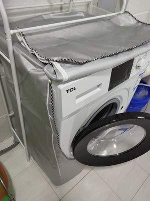 Couvercle de Protection en Tissu Polyester Couverture Machine /à Laver 55 * 60 * 85 CM Anti-Pluie Taille F Anti-Poussi/ère Anti-Soleil anaoo Housse pour Machine Lave-Linge