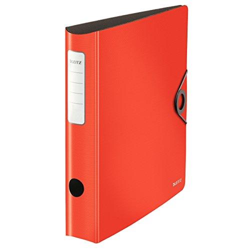 Leitz 100Quality Folder 180° Active Solid slim light red
