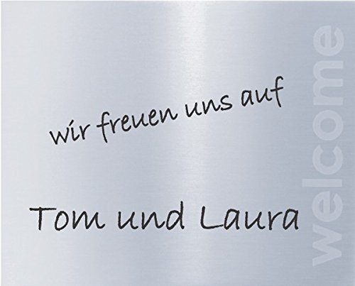 Artikel Design cartel para puertas, plata, 125 x 100 mm ...