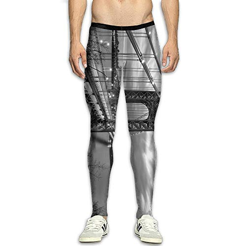 Men's Compression Pants Golden State Bridge 3D Print Baselayer Cool Dry Sports Thermal Tights Leggings Running Fitness ()