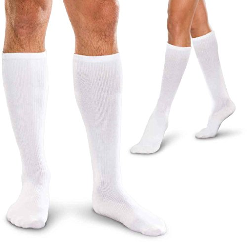 Therafirm TFCS179 Adult's 15-20Hg Cushioned Core-Spun Sock White X-Large