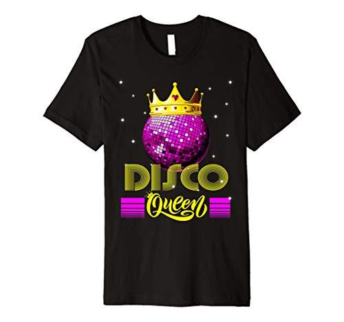 Disco Queen Tshirt - Retro 70s Vintage Disco Ball Premium T-Shirt