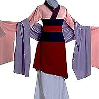 Peachi Kids Teen Heroine Hua Mulan Dress Halloween Costume Cosplay Party,Pink,X-Large