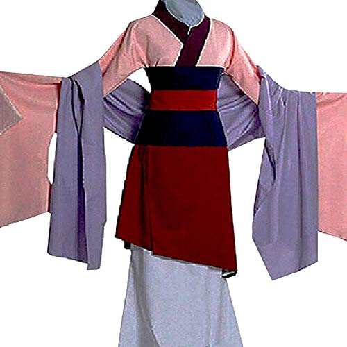 Peachi Kids Teen Heroine Hua Mulan Dress Halloween Costume Cosplay Party S-XL -