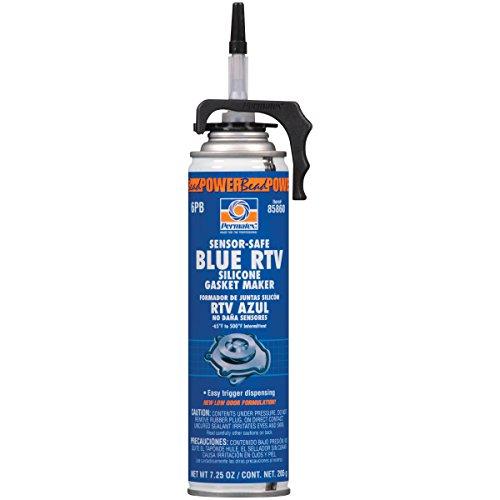 - Permatex 85860 Sensor-Safe Blue RTV Silicone Gasket Maker, 7.25 oz. PowerBead Can