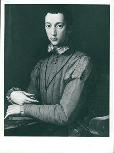 Vintage photo of Works by Bronzino: Portrait of Francesco De39; (Bronzino Portrait)
