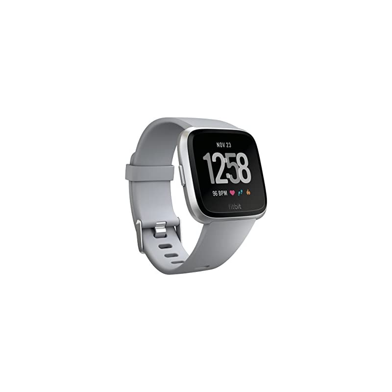 Fitbit Versa Smart Watch, Gray/Silver Al