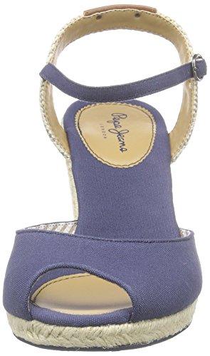 Femme Bride Blau Sandales compensé Shark Et Fun Talon 580sailor Bleu Jeans à Pepe qwzxFpOF