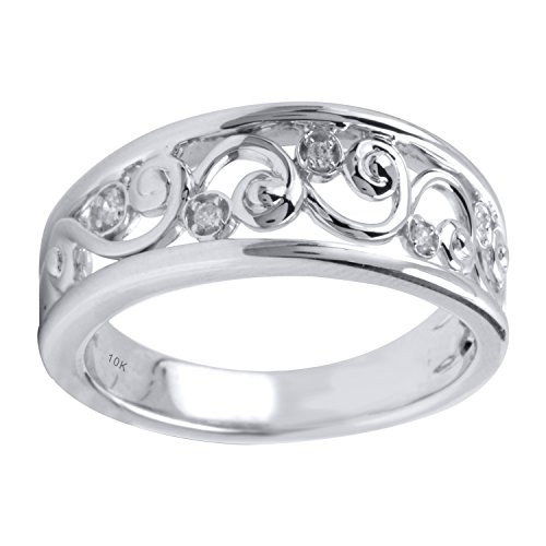 10K White Gold Diamond Accent Anniversary Ring