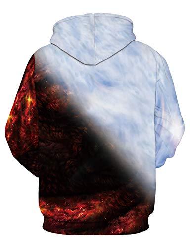 Donna Tasche 3d Unisex Stampata Divertente Colorata Di Hoodie Con Grafica Felpa Uomo Coppia Lupi Pullover Cappuccio Felpe IIOqU