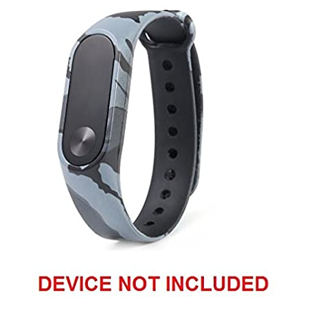 Techonto Replacement Band Strap Camouflage for Mi Band 2 (Device Not  Included) (Army Grey)