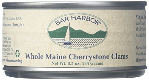 Bar Harbor Clams, Maine Cherrystone, 6.5 Ounce (Pack of 12) Homemade Clam Chowder