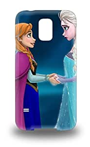 Galaxy 3D PC Case For Galaxy S5 With Nice Disney Elsa And Anna Frozen Beautiful Princess Appearance ( Custom Picture iPhone 6, iPhone 6 PLUS, iPhone 5, iPhone 5S, iPhone 5C, iPhone 4, iPhone 4S,Galaxy S6,Galaxy S5,Galaxy S4,Galaxy S3,Note 3,iPad Mini-Mini 2,iPad Air )