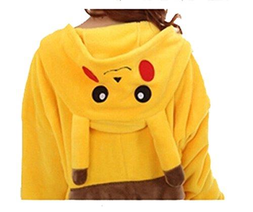 Combinaison Pyjama une pièce cosplay unisexe pour adulte Animal Chaud pyjama Pikachu moyen Bleu - Bleu