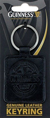 Guinness Black Leather Keyring by Guinness