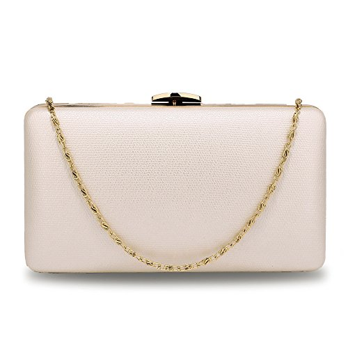 DELIVERY Evening UK With Metal Ivory Clutch Gold Work Gorgeous FREE Bag Afp6yq